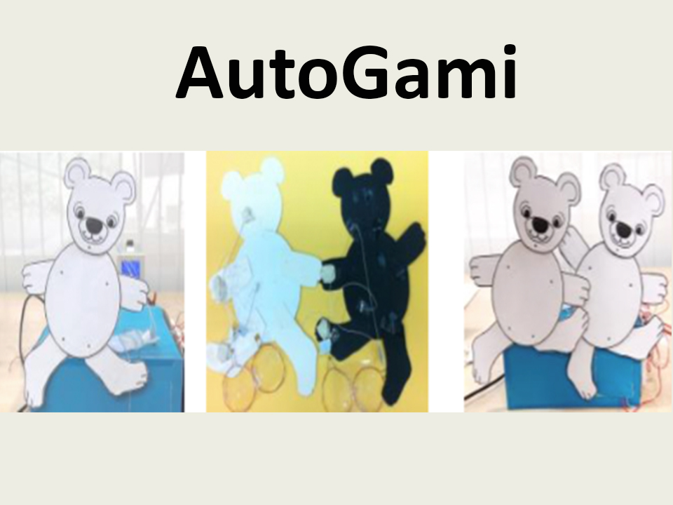 AutoGami: A Low-cost Rapid Prototyping Toolkit for Automated Movable Paper Craft