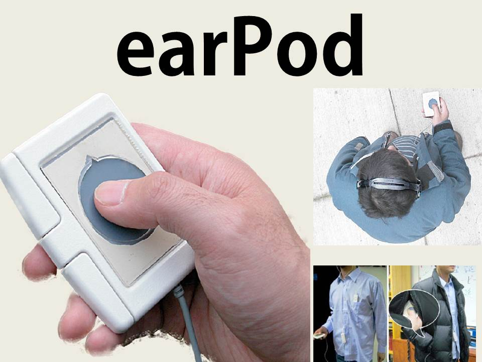 earPod: Eyes-free Menu Selection using Touch Input and Reactive Audio Feedback