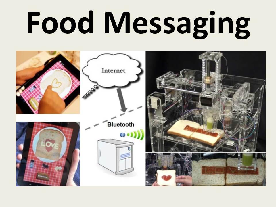 Food Messaging: Using an Edible Medium for Social Messaging