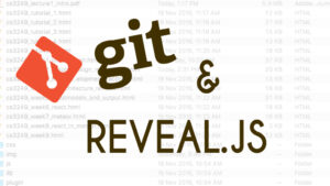 Managing lecture slides using GIT and Reveal.js
