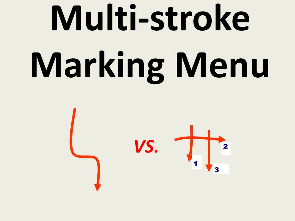 Simple vs. Compound Mark Hierarchical Marking Menus