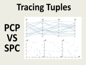 Tracing Tuples Across Dimensions: A Comparison of Scatterplots and Parallel Coordinate Plots