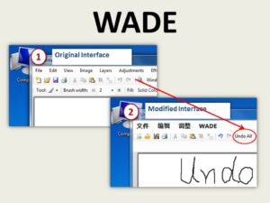 WADE: Simplified GUI Add-on Development for Third-party Software