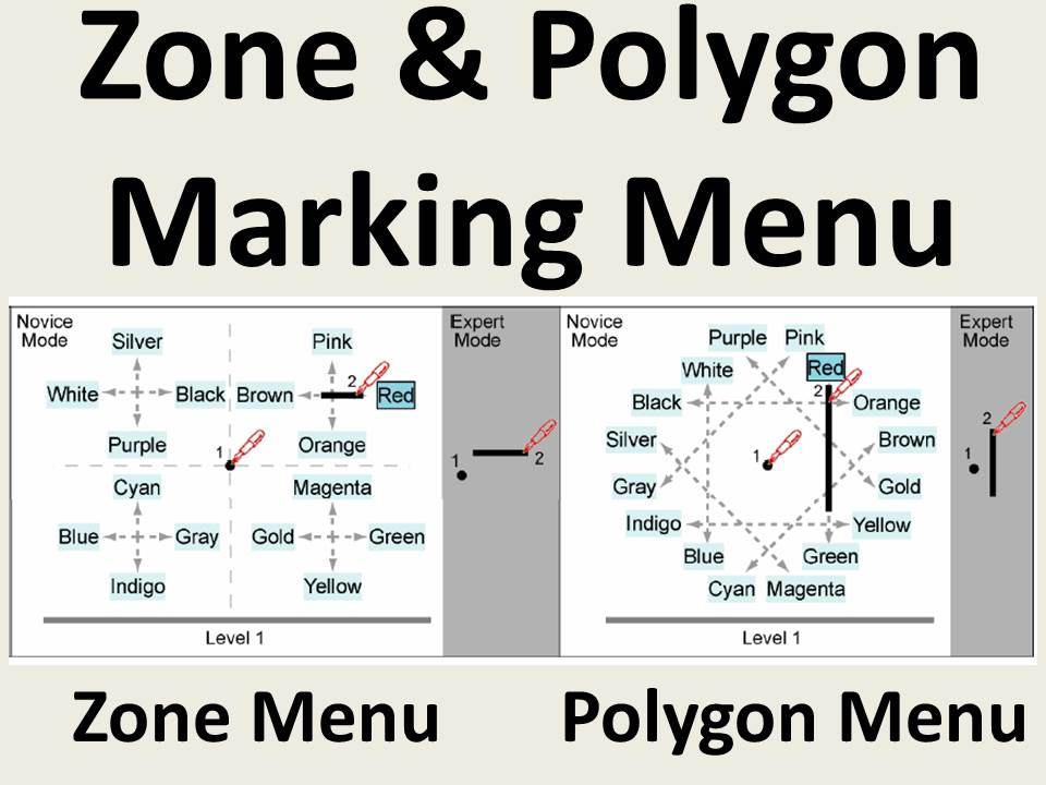 Zone and Polygon Menus: Using Relative Position to Increase the Breadth of Multi-Stroke Marking Menus