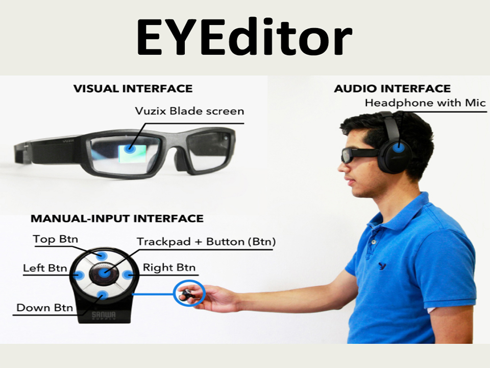 EYEditor: Towards On-the-Go Heads-up Text Editing Using Voice and Manual Input