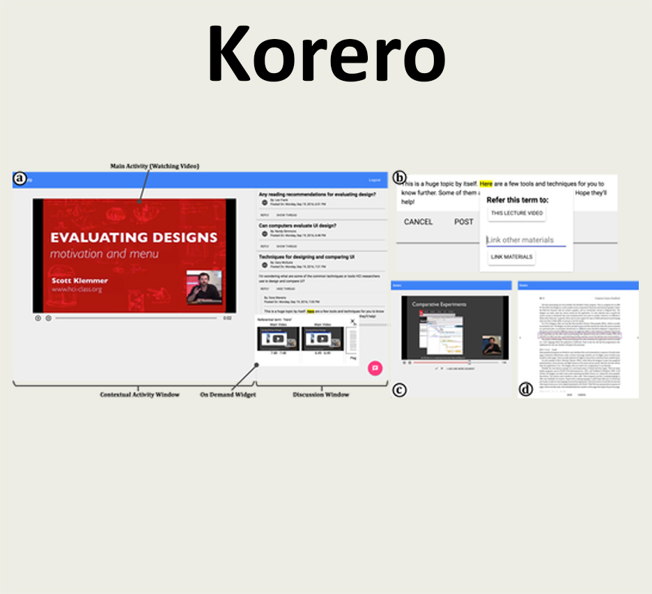Korero: Facilitating Complex Referencing of Visual Materials in Asynchronous Discussion Interface