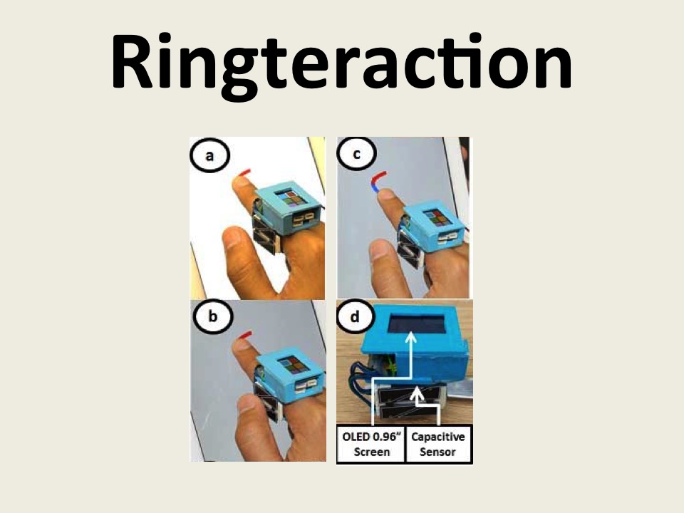 Ringteraction: Coordinated Thumb-index Interaction Using a Ring
