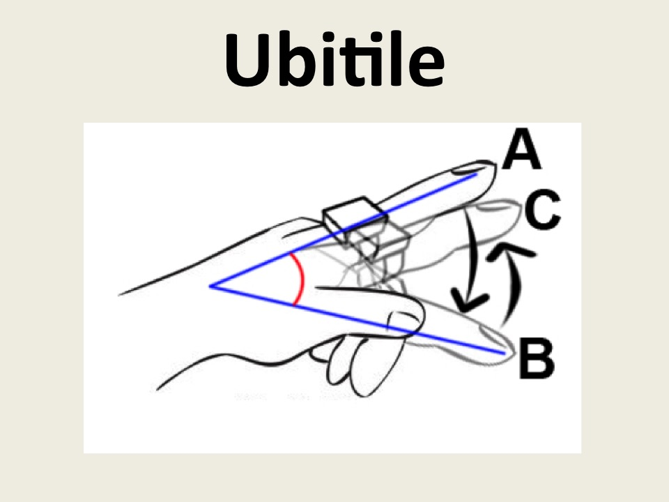 Ubitile: A Finger-Worn I/O Device for Tabletop Vibrotactile Pattern Authoring
