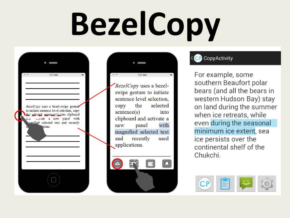 BezelCopy: An Efficient Cross-Application Copy-Paste Technique for Touchscreen Smartphones