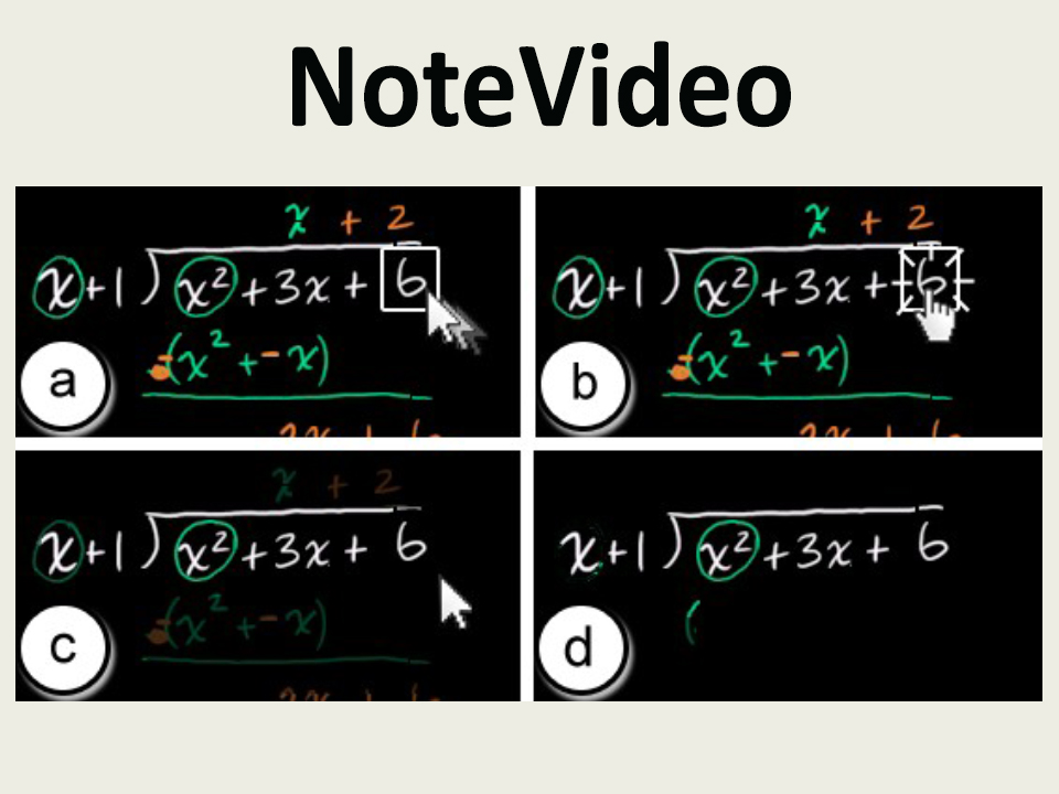 NoteVideo: Facilitating Navigation of Blackboard-style Lecture Videos