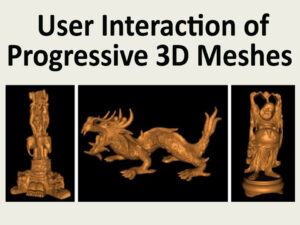Towards Characterizing User Interaction with Progressively Transmitted 3D Meshes